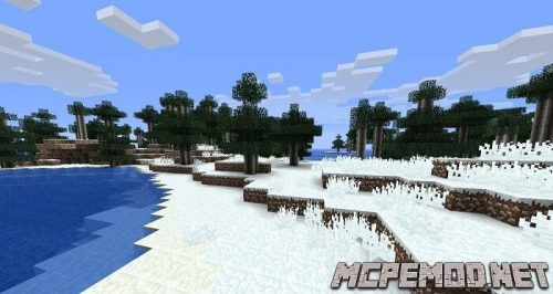 New textures of trees and grass mcpe