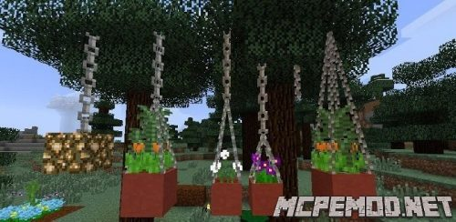 Pots for flowers mcpe