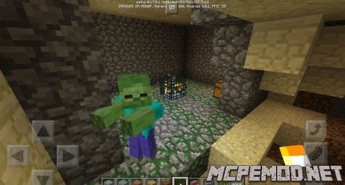 spavner zombies at the start of the game seed mcpe