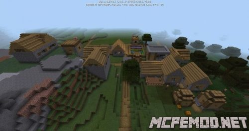 the village is close to the steep mountains seed