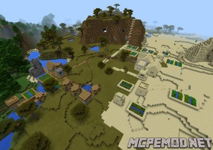 two different village with a smithy seed mcpe