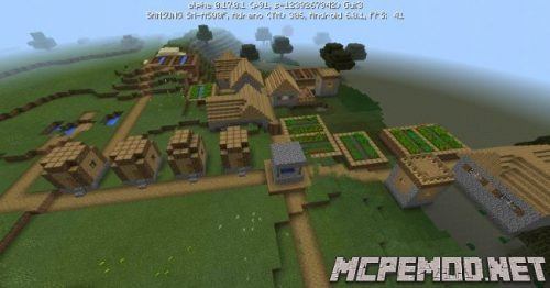 two villages near the spawn seed mcpe