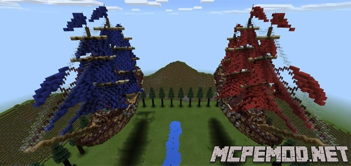 ship wars map mcpe