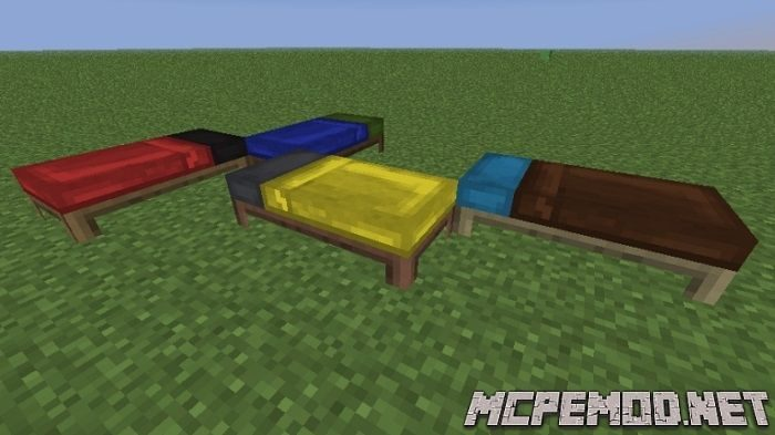 color bed mcpe