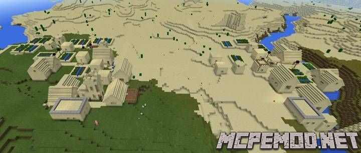two sand vilages spawn seed mcpe