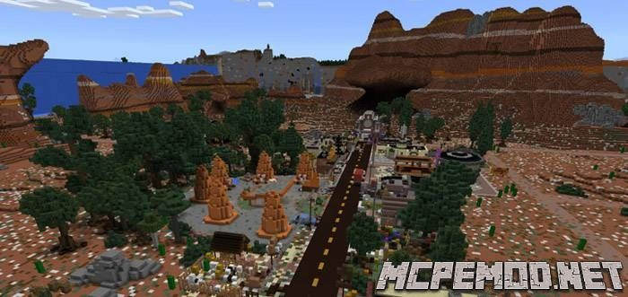 Карта Cars Land (Radiator Springs) MCPE