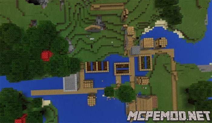 most glitched village seed mcpe