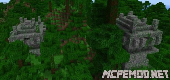two temples at spawn seed mcpe