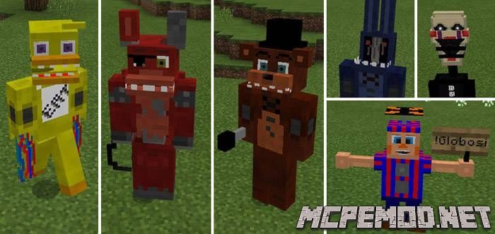 Мод Five Nights At Freddy's MCPE