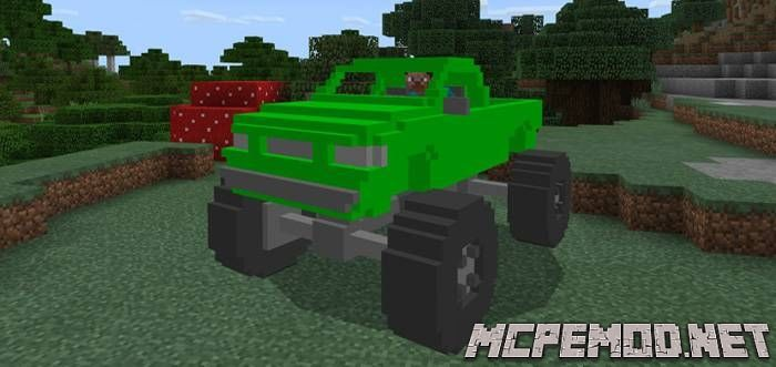 Мод MonsterTruck MCPE