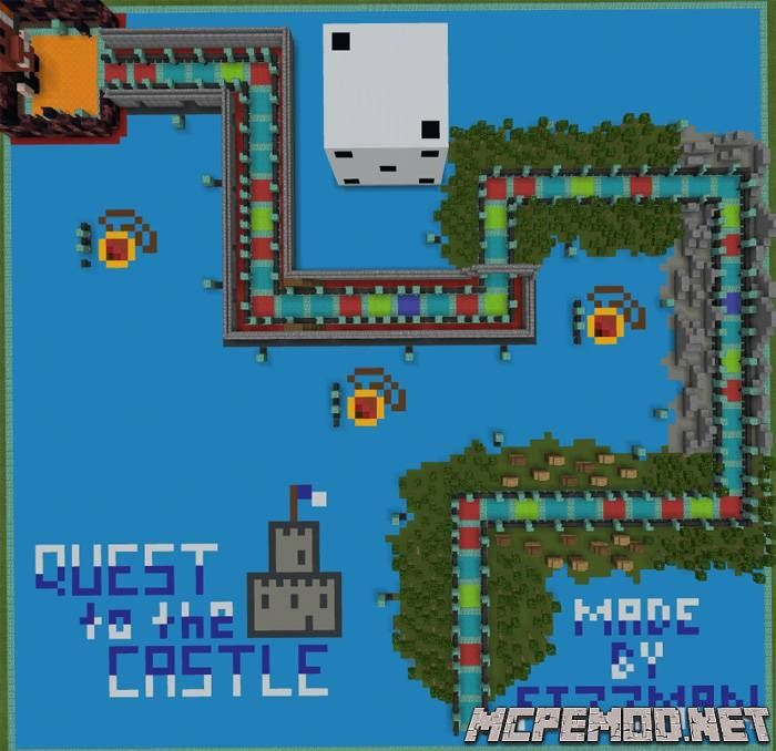 quest to the castle map mcpe