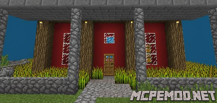 find the button houses map mcpe