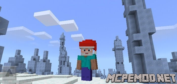 christmas hats heads texture pack mcpe