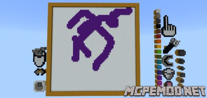 painting in mcpe map mcpe